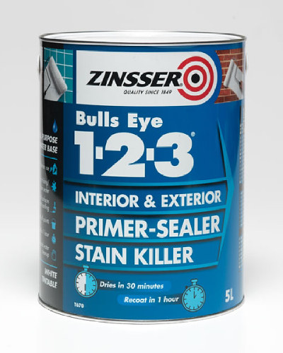 Bulls Eye 123 Primer Sealer & Stain Killer - 5 Litre